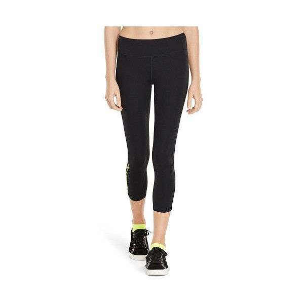 Polo Ralph Lauren Mesh-Paneled Cropped Legging ($99) ❤ liked on Polyvore  featuring