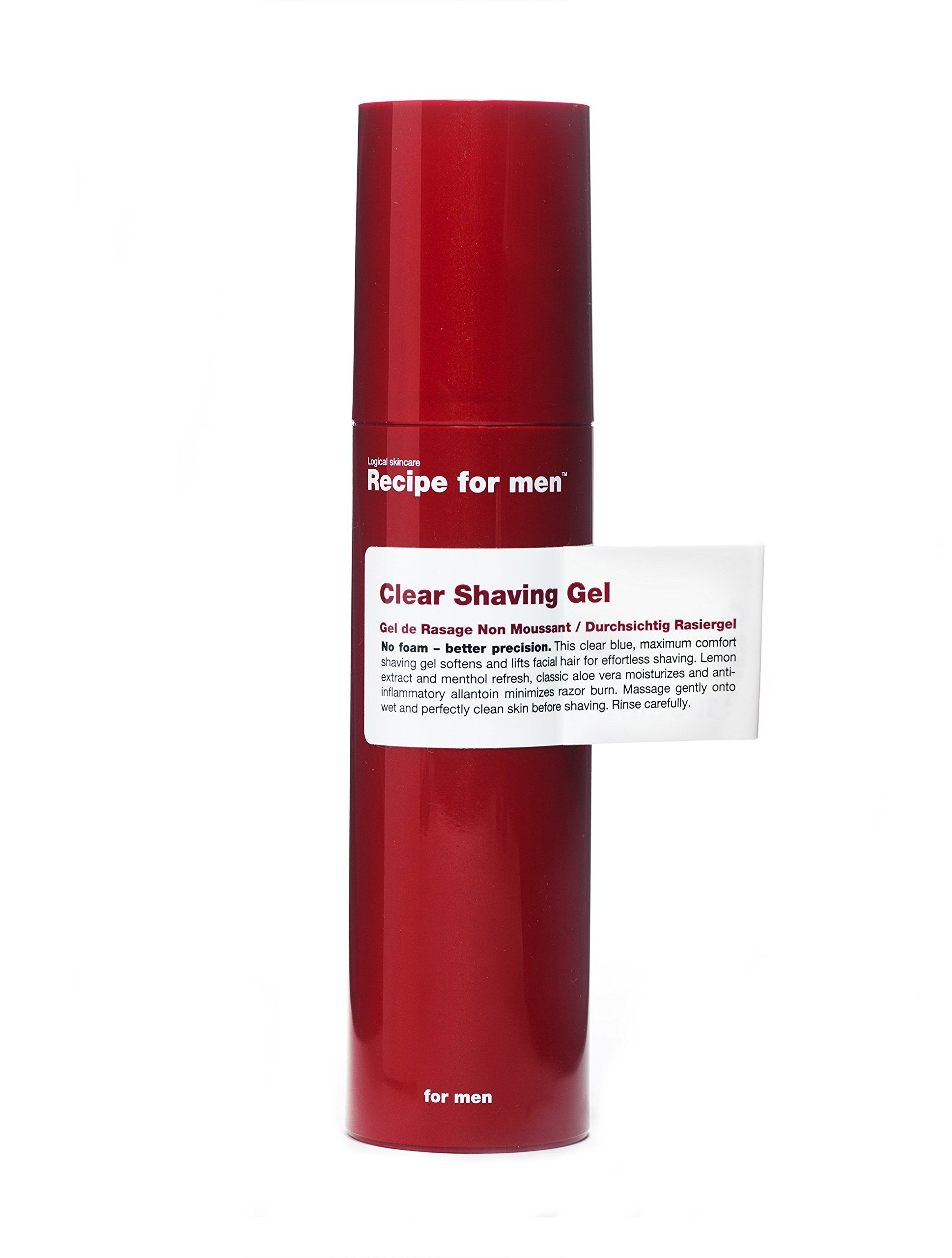 Recipe for men clear shaving gel fl oz