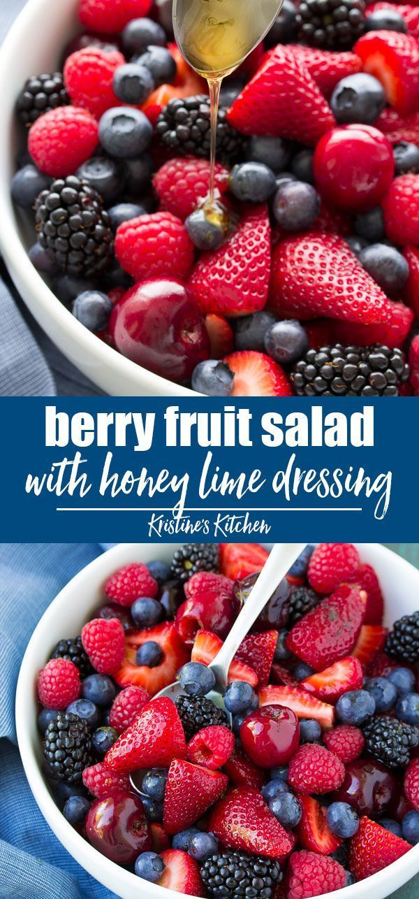 Photo of BEST Berry Fruit Salad with Easy Honey Lime Dressing