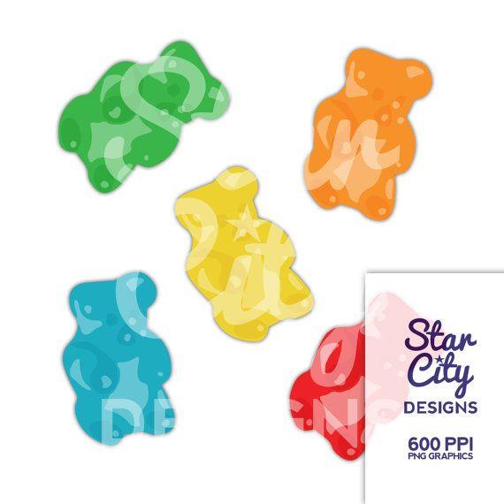 Gummy Bear Clipart Gummy Clipart Candy Clipart Gummy Clip Art Clipart Vector Art Vector Graphics Instant Download Clip Art Gummy Bears Candy Clipart