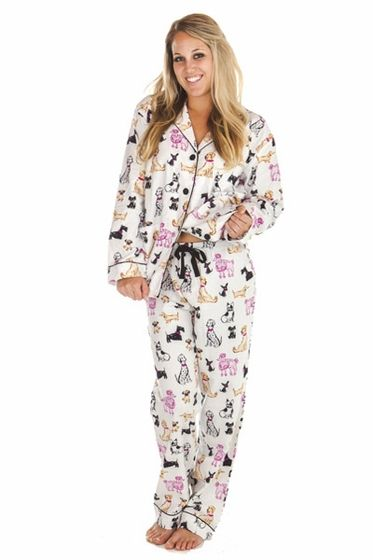 0e19b16907 PJ Salvage Dog Day Flannel Pajama Set   Think Her. Find this Pin and more  on PJ Salvage Pajamas ...