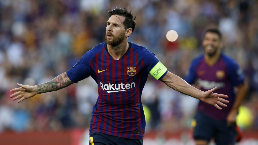 Lionel Messi Treble Gets Barca Off To Champions League Flyer Lionel Messi Messi Champions League