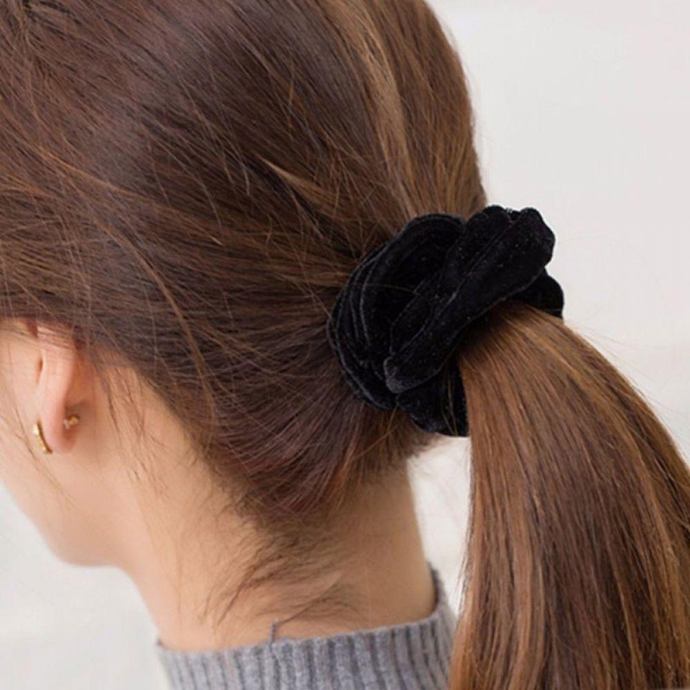 women's solid color velvet hair