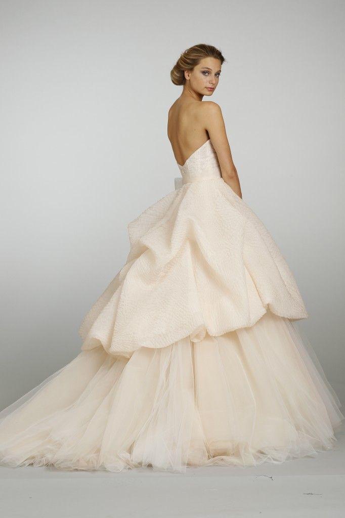 Lazaro Bridal Sherbet Textured Silk Organza Tulle Ball Gown Style 3316