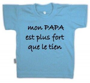 8fc5bf8659d98 T-shirt enfant humour   mon PAPA est plus fort que le tien