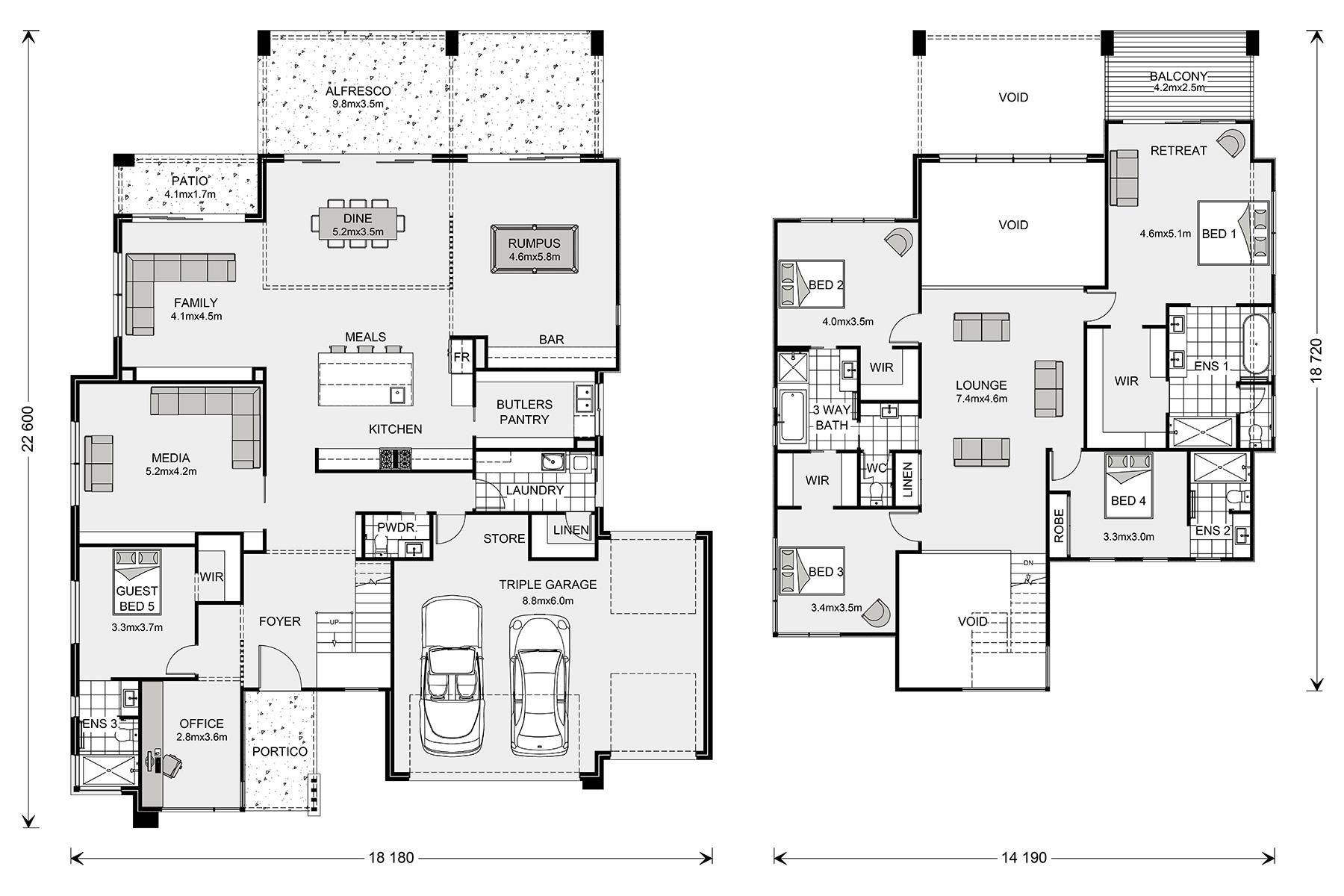 Pin By Fariha N On Architecture House Plans Australia Floor Plans Dream House Plans