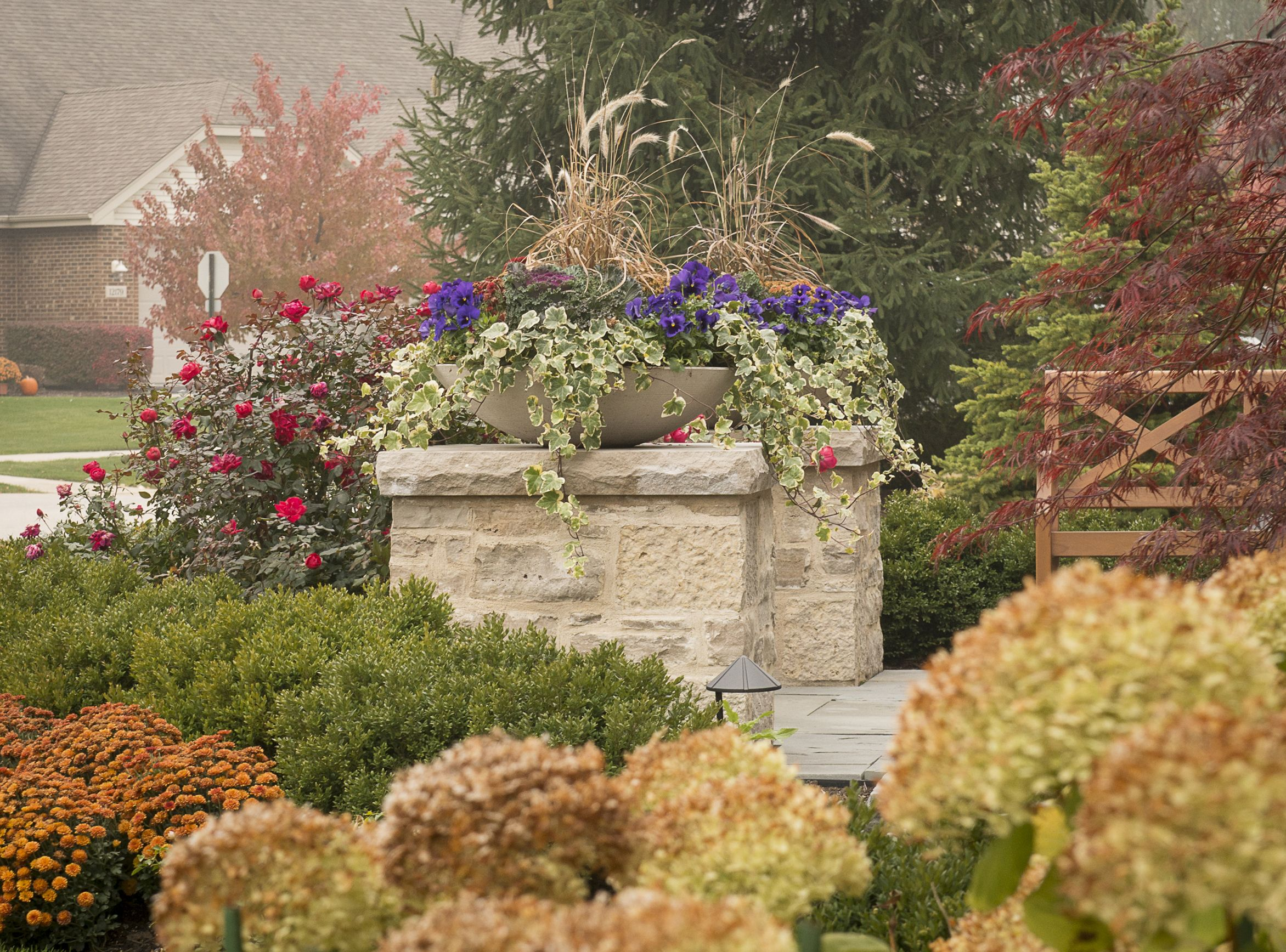 Fall color: landscape design and plantings by Premier Service ...