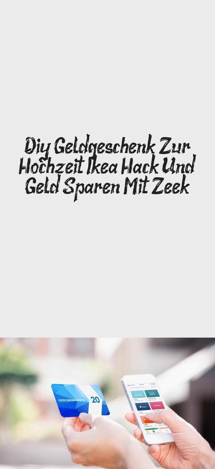 Diy Geld Geschenk für Hochzeit Ikea Hack und Geld sparen mit Zeek #ikeagutscheinv …