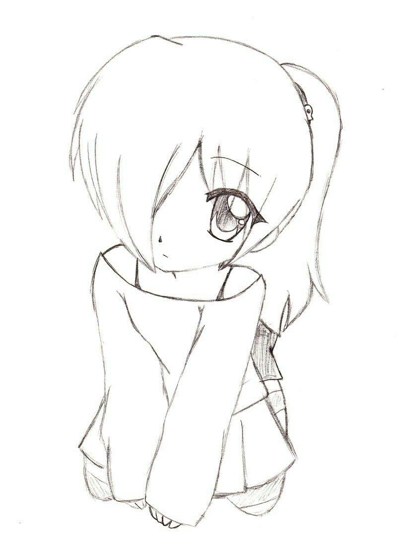 Girl easy sketch anime