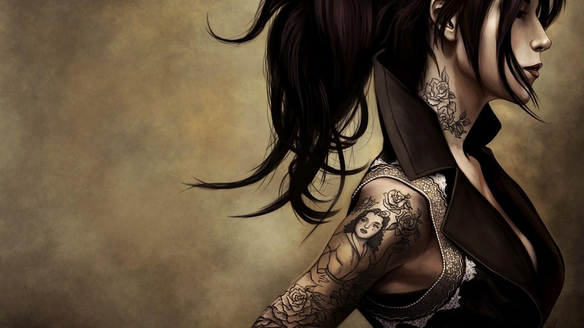 Hot Tattoo Girl Designs  Tattoo illustration, Tattoo girl