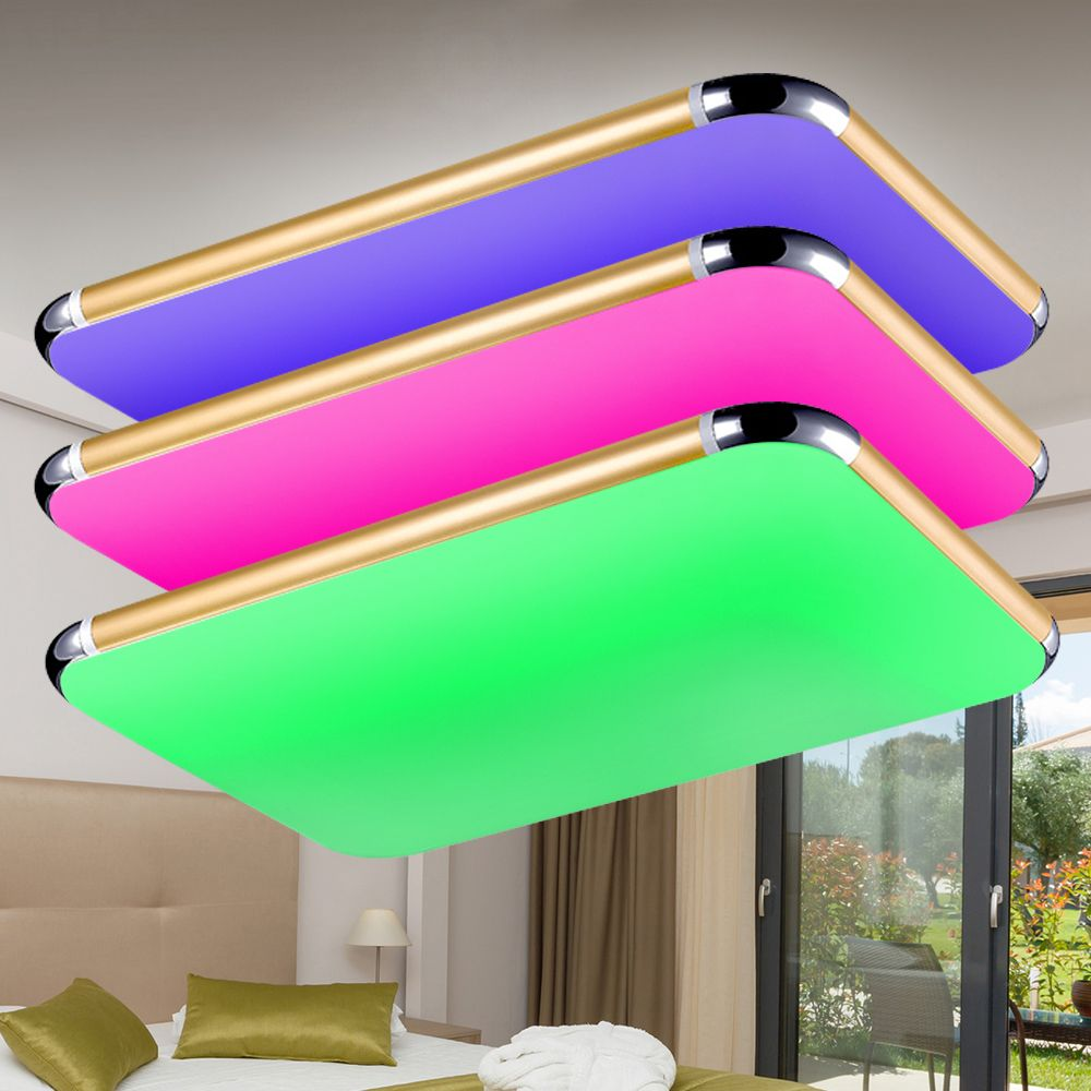 New Led Ceiling Lights Light Chandeliers Ceiling 2 4g Rf Remote Dimmable Color Changing Lamp For Living Room Be Ceiling Lights Color Changing Lamp Led Ceiling