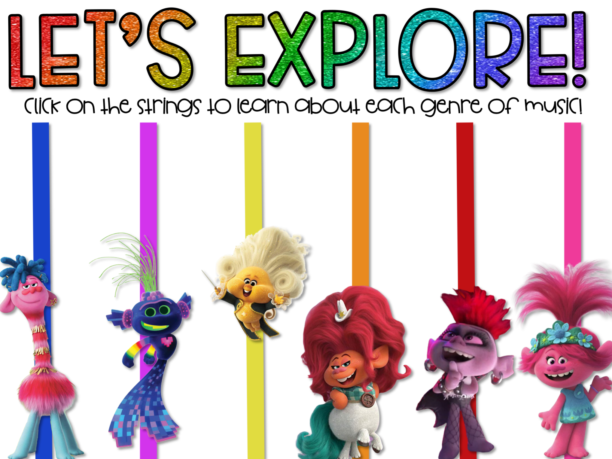 Exploring Music Genres Within Trolls World Tour Music And Motivate Music Genres Genres Interactive Lessons