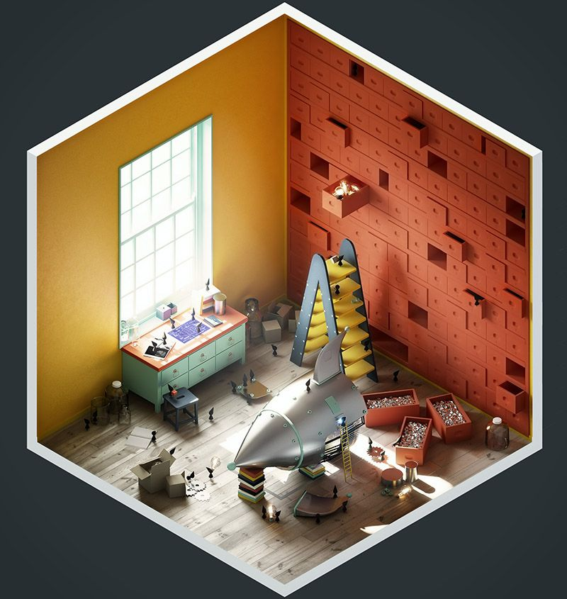 Create appealing 3D illustrations By The Stompin' Ground