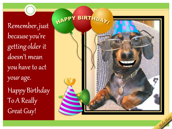 Birthday Greatguy Ecard 123greetingsprofilebebestarr