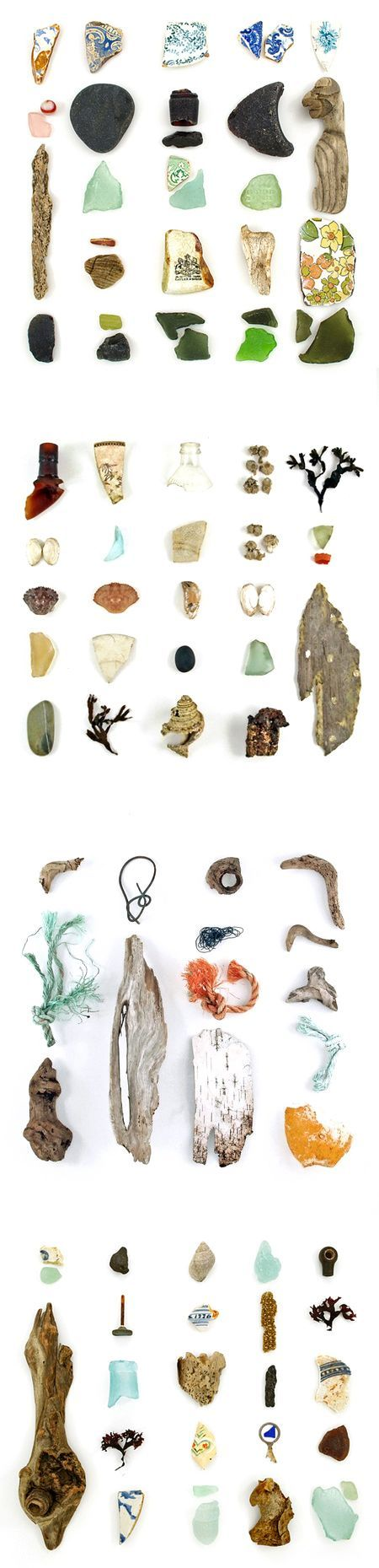 Jennifer Booher finds objects on the beach then photographs it.