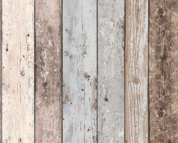 English wood col 06 tapeten farben und mehr for Tapete holzoptik schlafzimmer