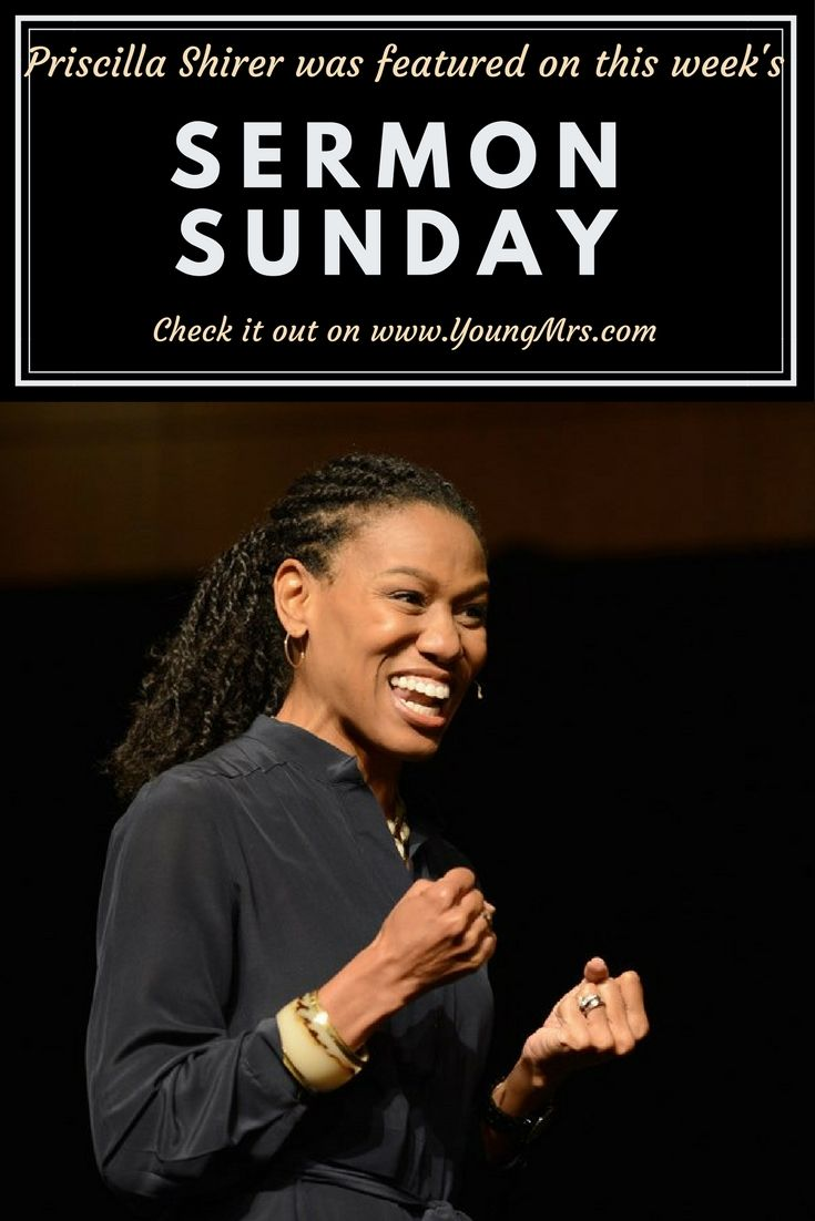 This Sunday, join us as we listen to Priscilla Shirer teach us about