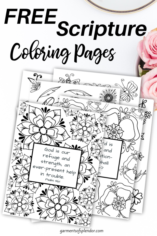 Free Printable Bible Verse Coloring Pages -