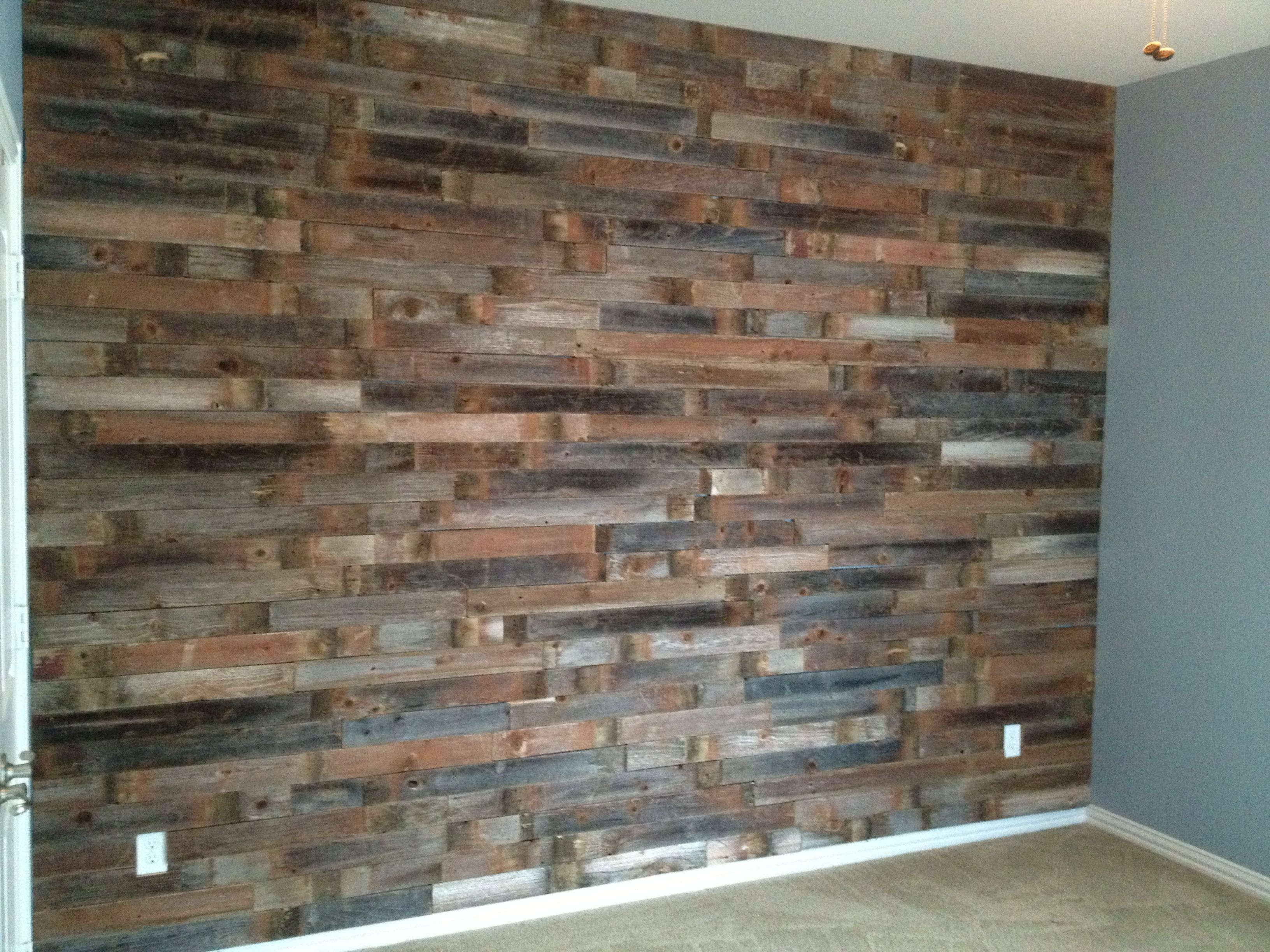 my fence post wood wall love