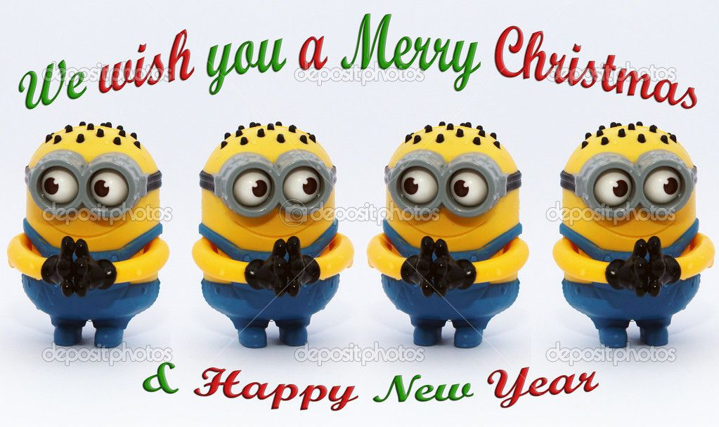 Minions Wishing You Merry Christmas and Happy New Year 。 ‿ 。 See my Despicabl...