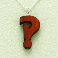 interrobang necklace from green chair press.  This symbol pretty much sums up my life.