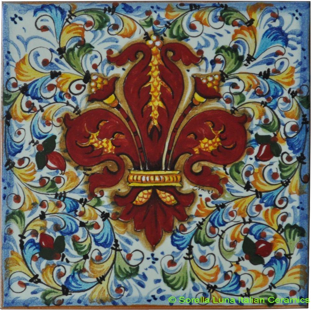 Hand painted Italian Ceramic Tiles | Italian Ceramics | Pinterest ...
