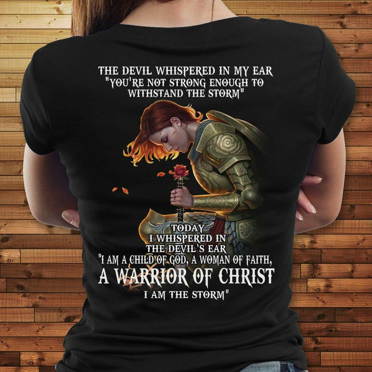 f6c718f4 T-shirt- Warrior of Christ I am the storm | Holy Clothing | Mens ...