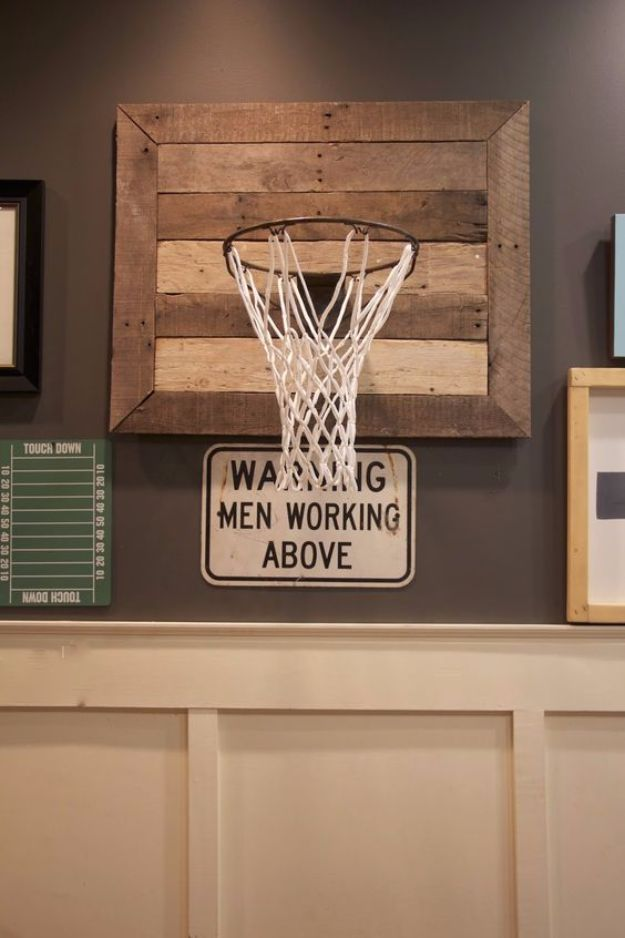 DIY Mancave Decor Ideas - DIY Basketball Hoop - Step by Step Tutorials and Do It Yourself Projects for Your Man Cave - Easy DIY Furniture Wall Art Sinks Coolers Storage Shelves Games Seating and Home Decor for Your Garage Room - Fun DIY Projects and Crafts for Men diyjoy.com/... #style #shopping #styles #outfit #pretty #girl #girls #beauty #beautiful #me #cute #stylish #photooftheday #swag #dress #shoes #diy #design #fashion #homedecor