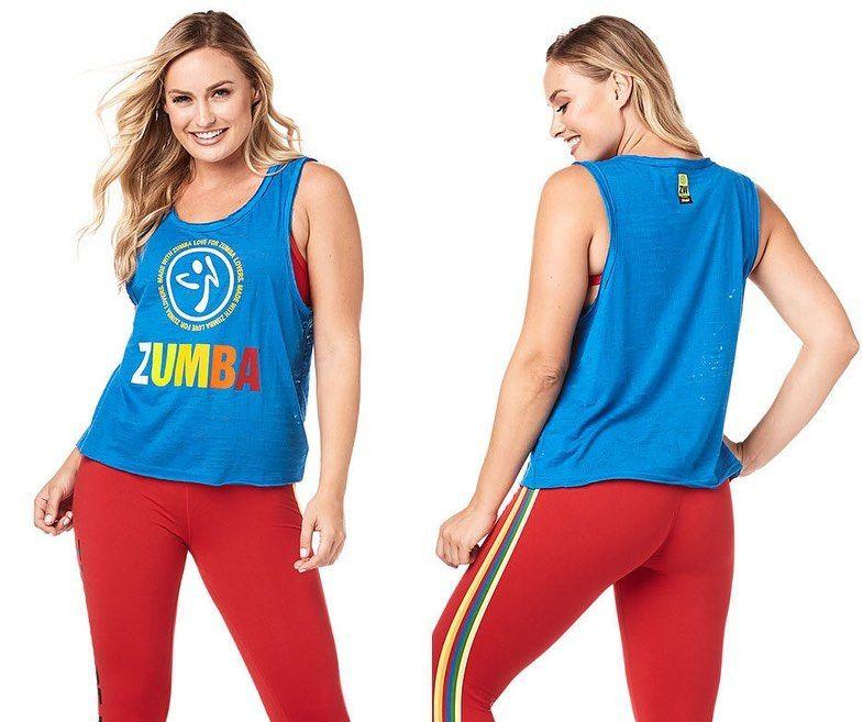NOVA COLEÇÃO  ENCOMENDAS POR MENSAGEM PRIVADA Zumba Made With Love Loose Tank  #zumbawear #mod...