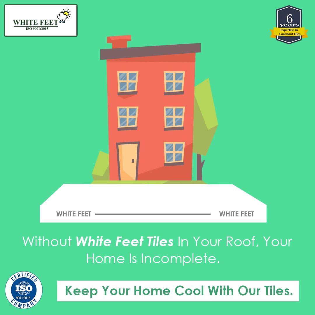 White Feet Cool Roof Tiles Cool Roof Roof Tiles Terrace Floor
