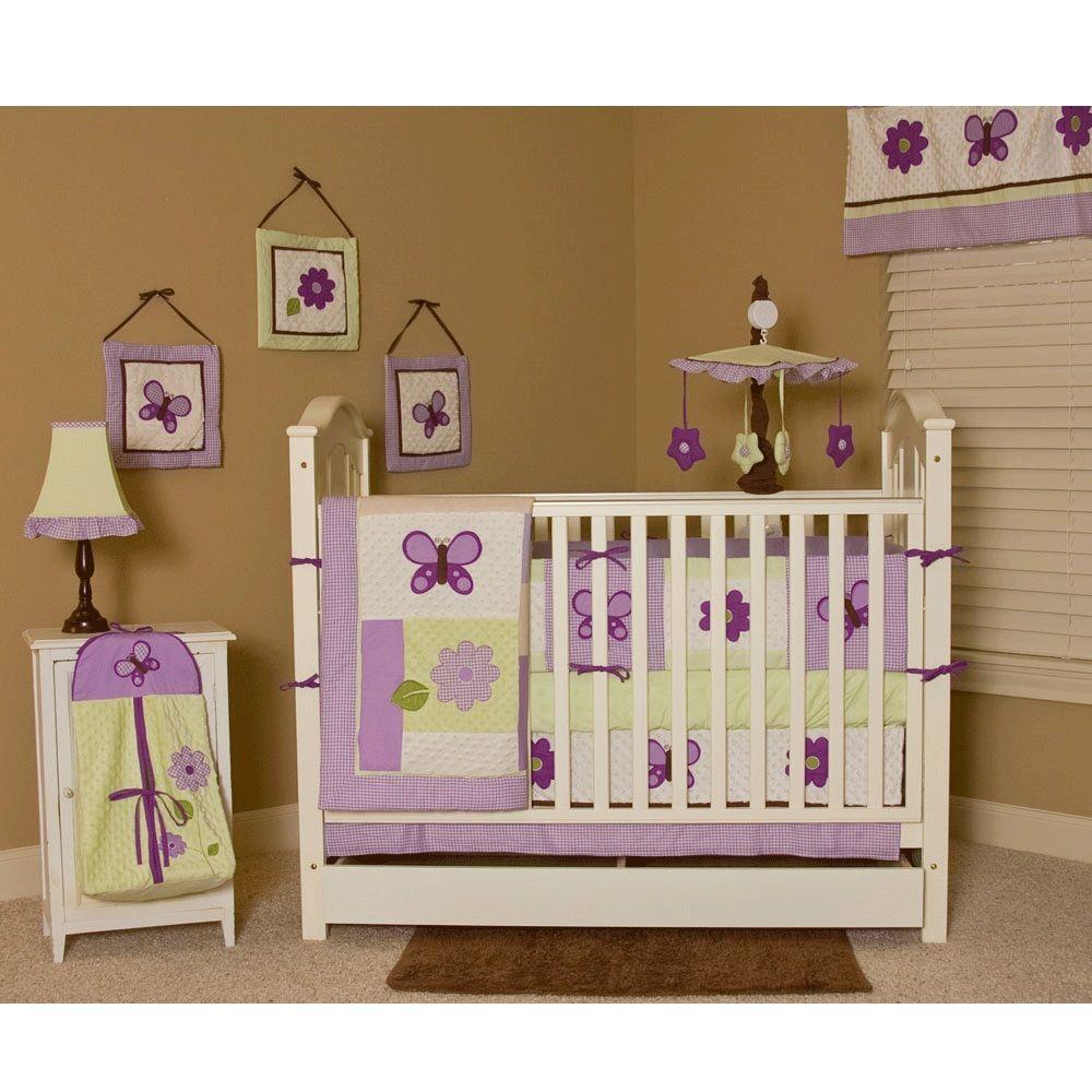 purple and green crib bedding - Google Search