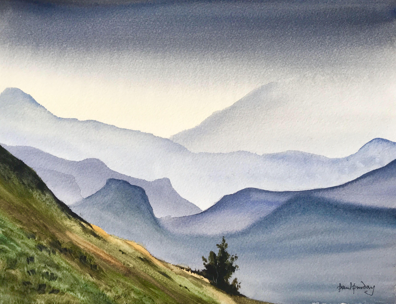 Mountain Grandeur Mountain Paintings Misty Mountains Misty