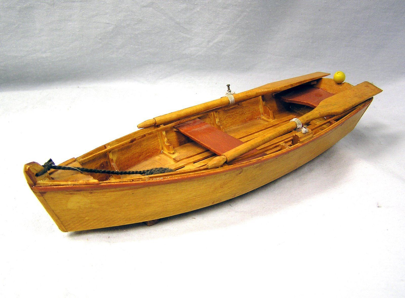 Old Fashioned Wood Row Boat Nos 9 Long Room Box Deco