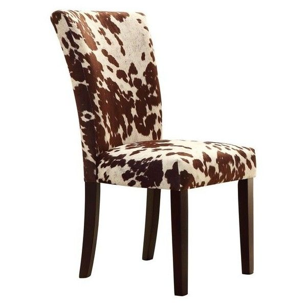 Portman Cow Hide Parson Side Chairs By Tribecca Home (u20ac190) ❤ Liked On