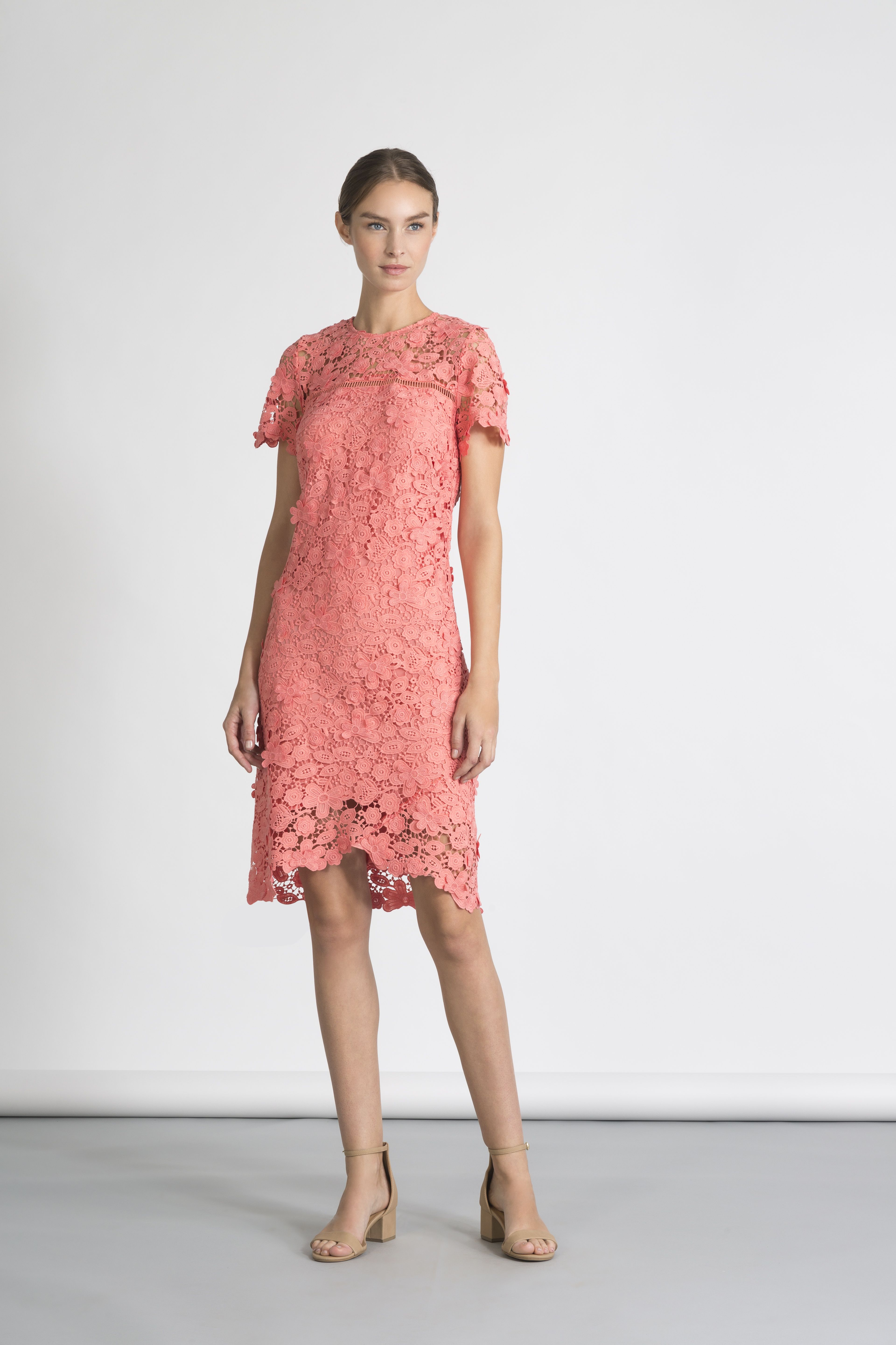 Latest lace dress styles 2018  Coral Antequera Floral Lace Dalia Dress  Spring   Pinterest