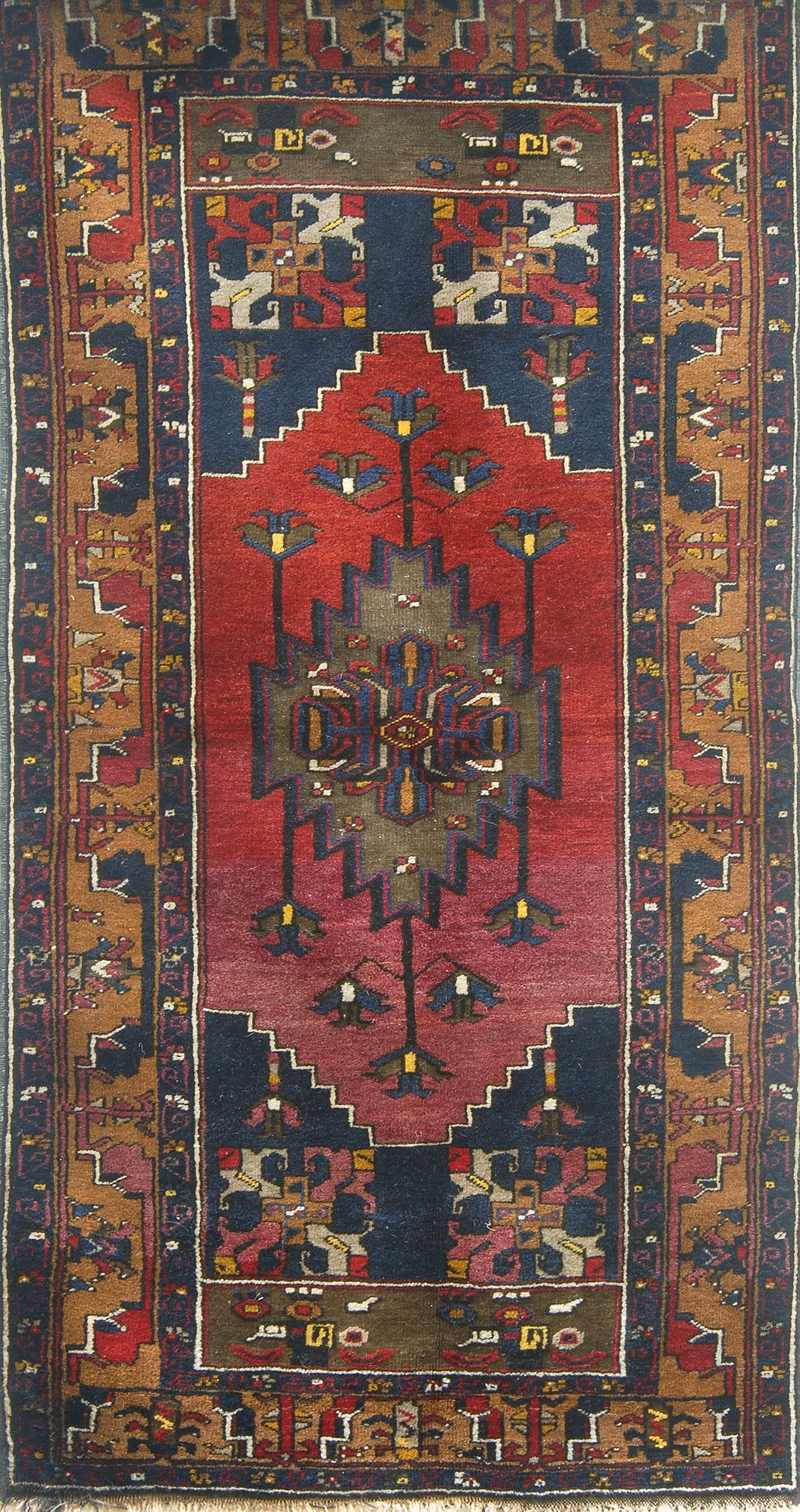 Antique Turkish Anatolian Yahyali Kayseri Caesarea Rug