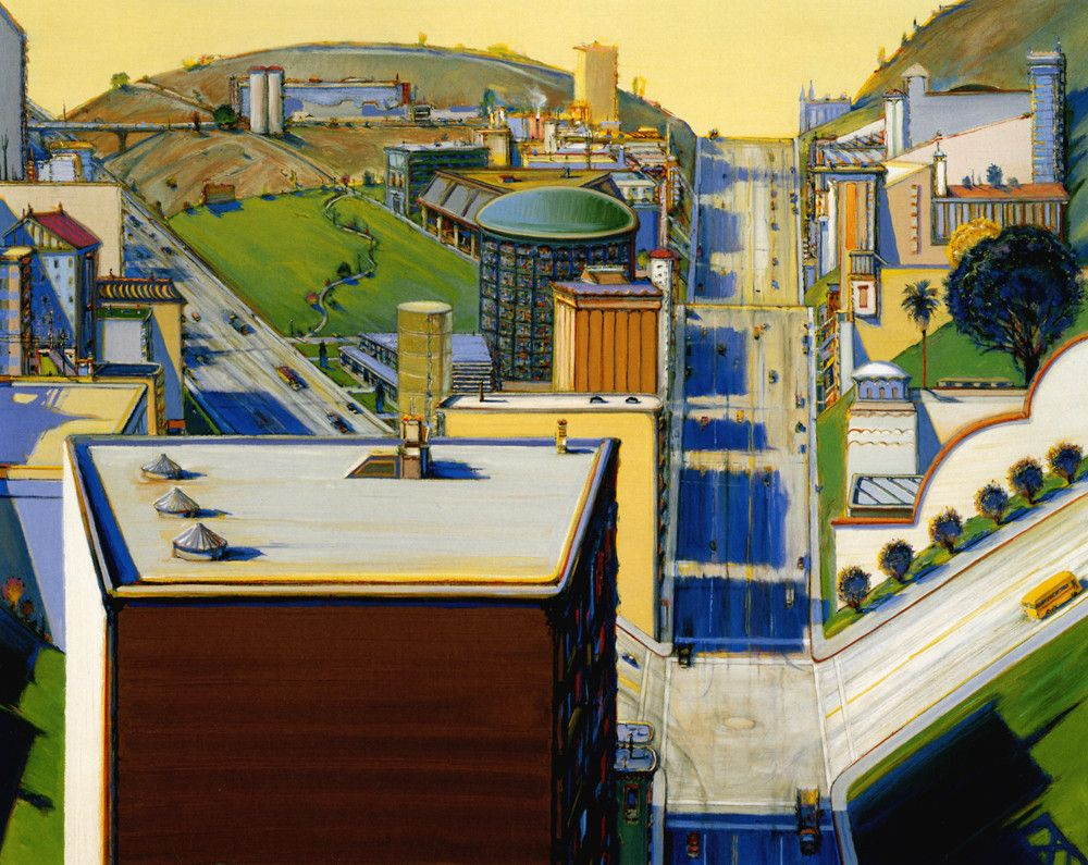 Wayne Thiebaud Valley Streets (2003) Wayne thiebaud