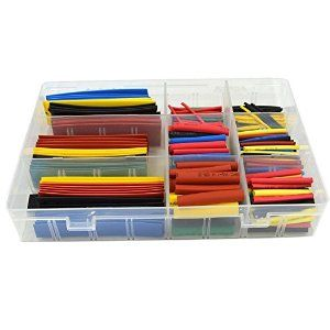URBEST®328 Pcs Assorted Heat Shrink Tube 5 Colors 8 Sizes Tubing Wrap Sleeve Set Combo