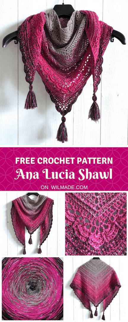 Ana Lucia Shawl Free Crochet Shawl Pattern By Crochet Projects
