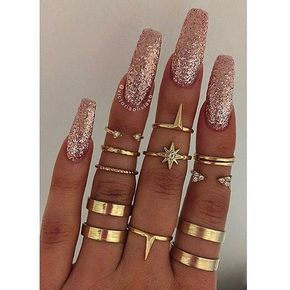 The Pink Nugget Flossgloss Rose Gold Glitter Polish