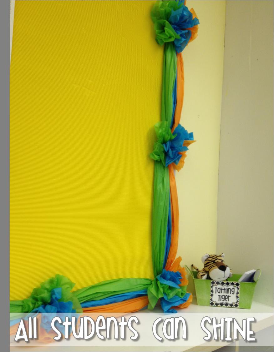 Tissue Paper Border - A Tutorial   Classroom bulletin ...