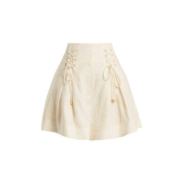 Buy Cheap Fashionable Clearance 2018 New high-waisted lace-up shorts - White Zimmermann Free Shipping Explore Lhdm2u