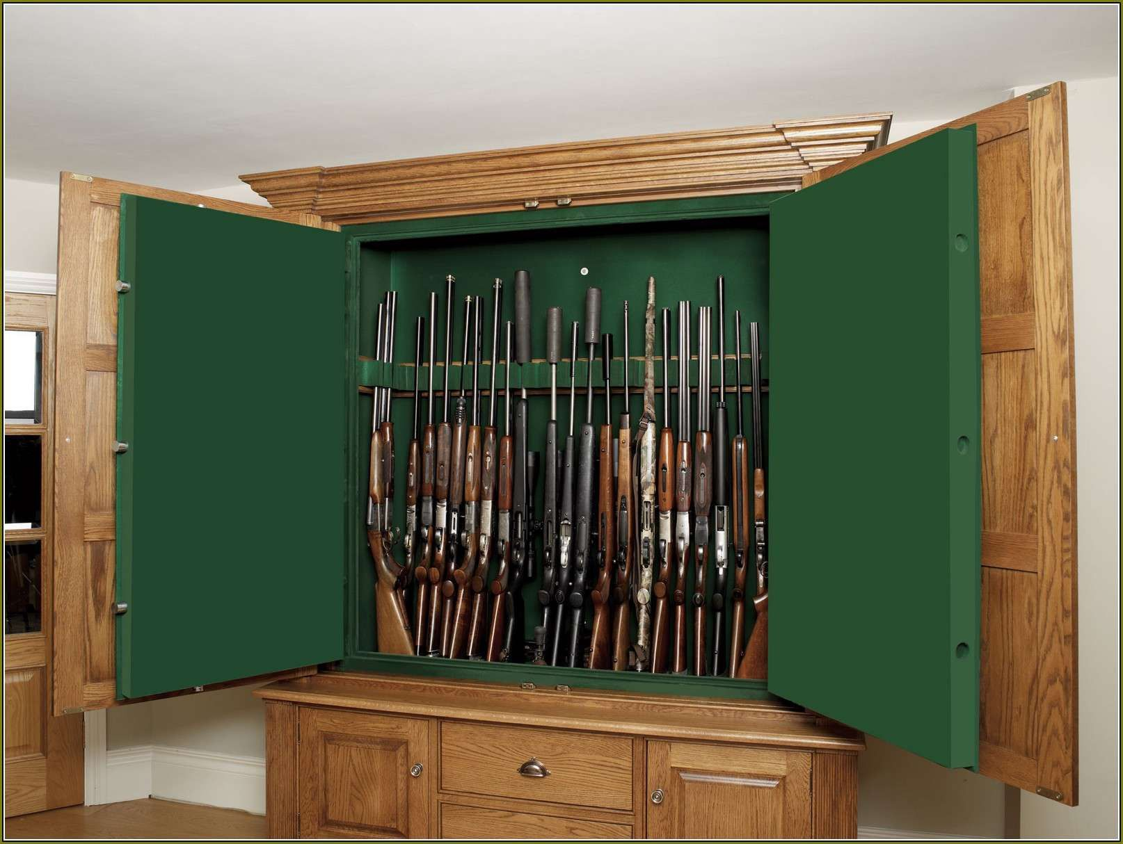 2019 Gun Cabinet With Glass Door Kitchen Remodeling Ideas On A