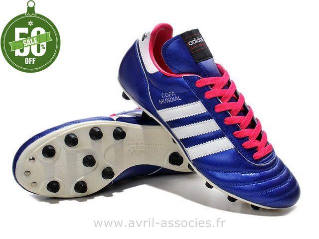 outlet store 84b60 229ec Boutique 2014 Coupe du monde Chaussures de foot adidas Copa Mundial FG Bleu  Blanc Rouge (Crampons De Foot Adidas)