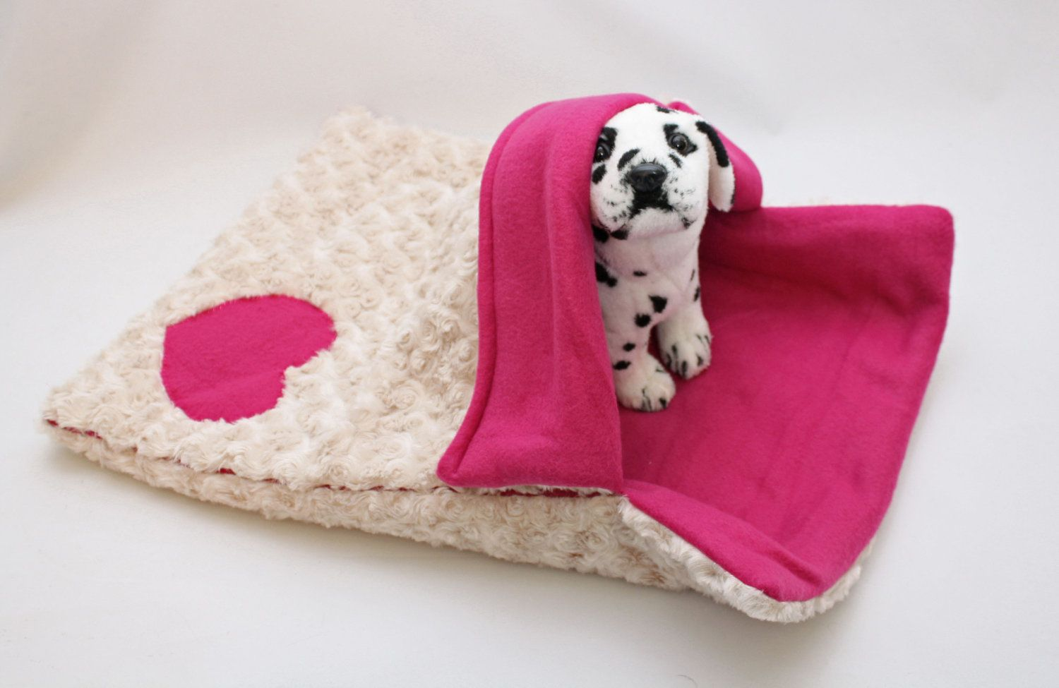 Warm & Snuggly 4 Way Pink Furry Puppy Dog Sleeping Bag Bed / Snuggle ...