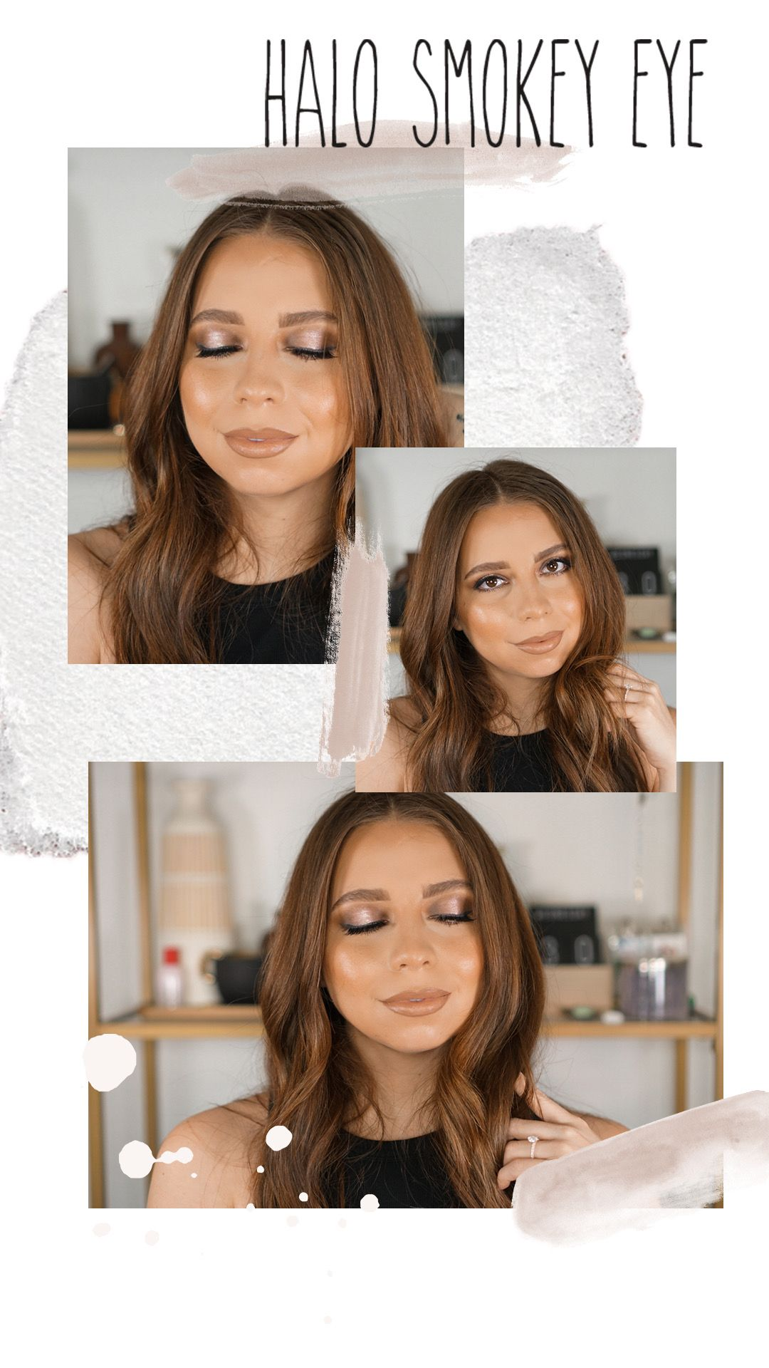 Neutral Smokey Eye perfect for a night out! And the