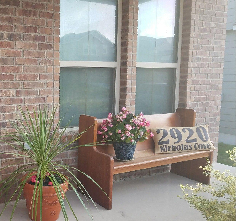 Lovin' my front porch pew