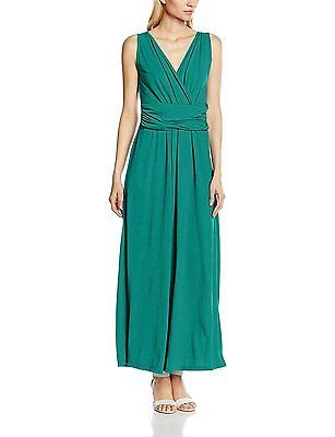 a452bc790 14, Green (Emerald Green), HotSquash Women's V Cross Over Maxi Dress NEW
