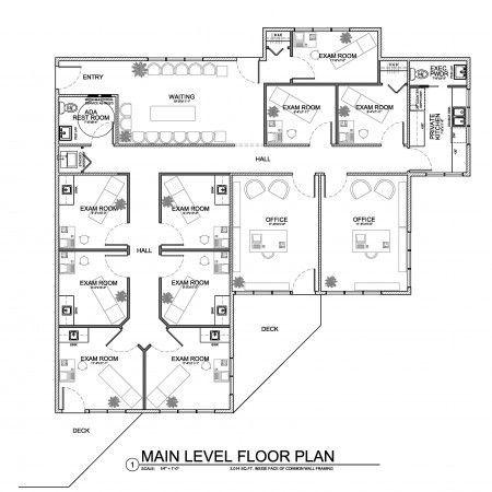 Floor plan for small medical 3323 3463 pixel interior for Floor plan magazines