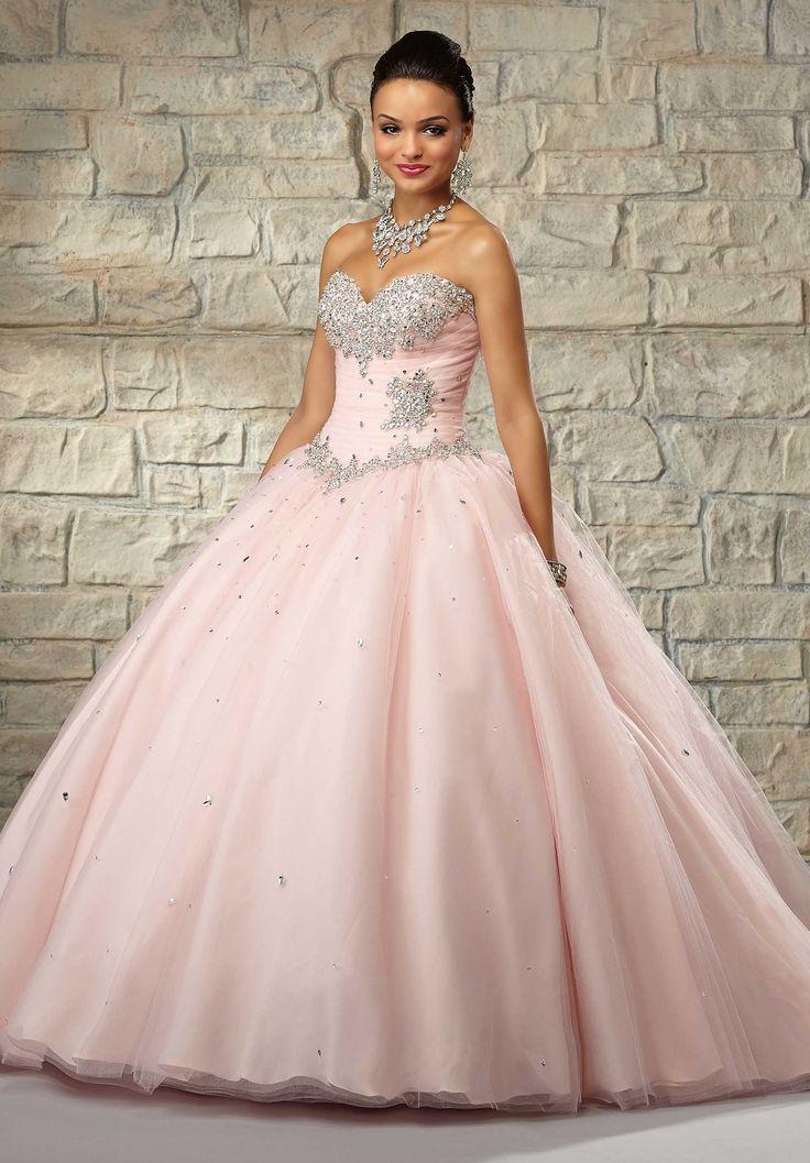 0b5cbc5b7 40 Vestidos de 15 años largos y cortos en color rosa